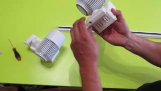 Трековые светодиодные светильники на шинопроводе 20 Вт и 30 Вт(, 2016-05-30T06:13:22.000Z)