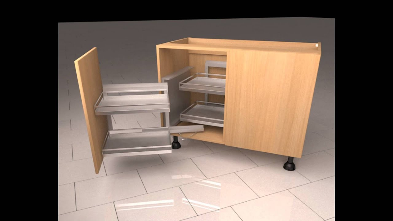Kitchen Corner Cupboard Diy Kitchenscom Magic Corner Mechanism Youtube