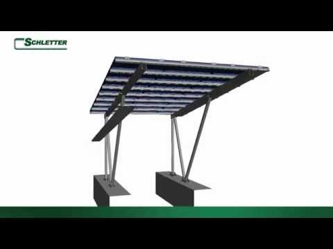 Schletter inc solar mounting systems image film by for Schletter carport