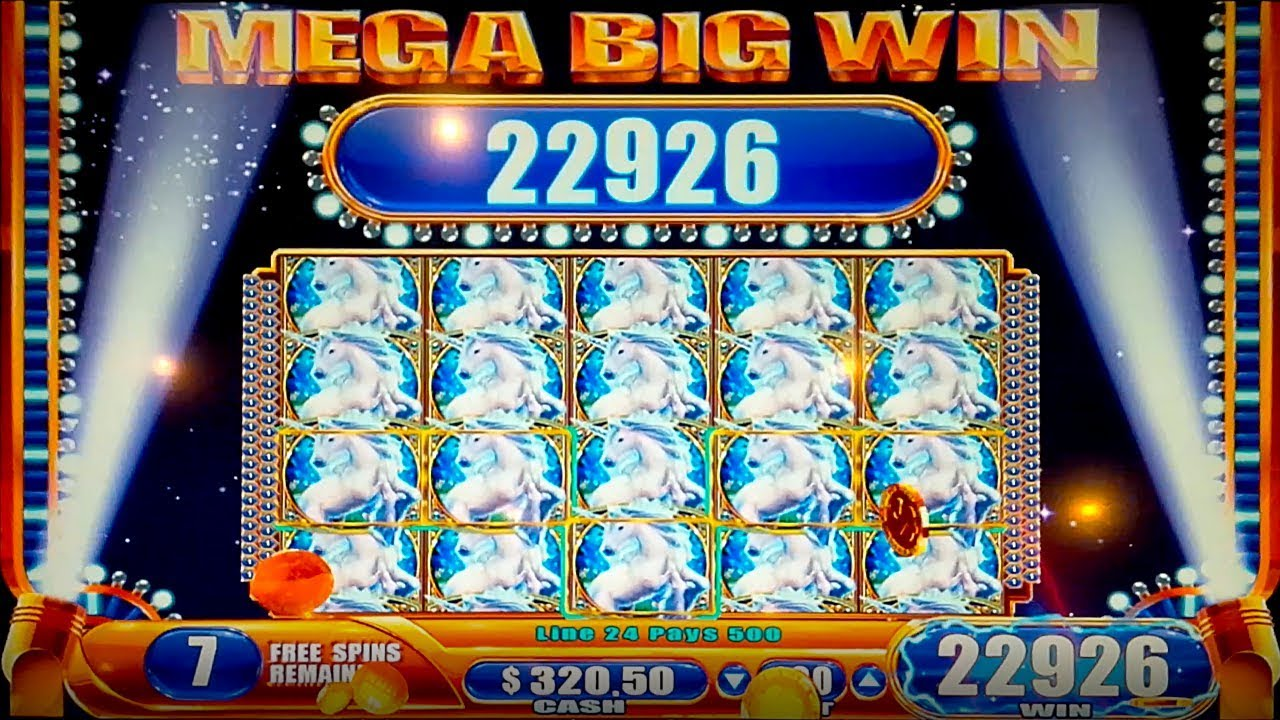 HUGE WIN! Mystical Unicorn Slot - HIGH LIMIT vs LOW LIMIT!