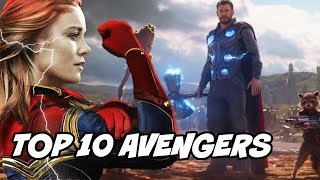 Top 10 Avengers My Favorite of All Time from Avengers Infinity War