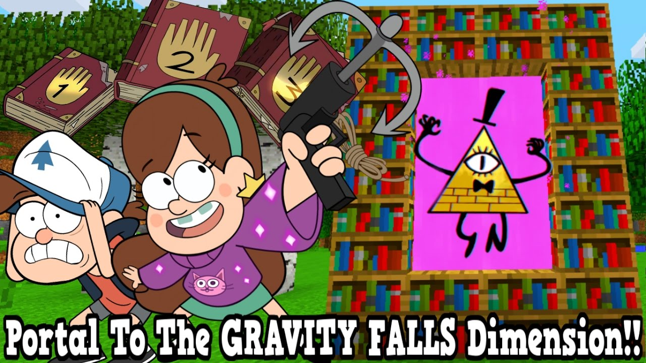 Minecraft How To Make A Portal To The Gravity Falls Dimension Gravity Falls Dimension Showcase Youtube