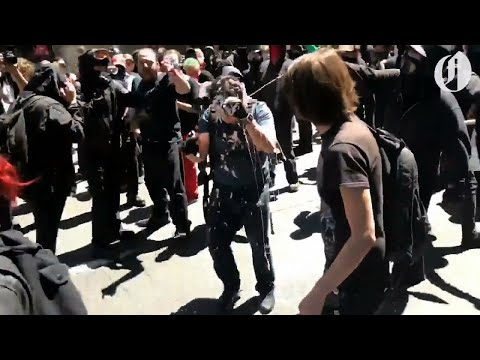 Conservative writer Andy Ngo roughed up at Portland antifa/right wing protests