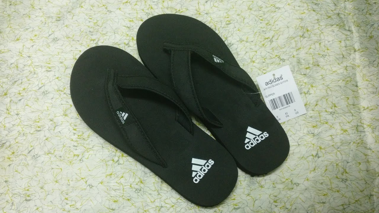 379dc02297b71 Adidas Men s Flip-Flops And Slippers. - YouTube
