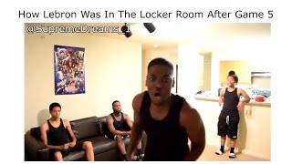 How Lebron Was In the Locker Room After Winning Game 7