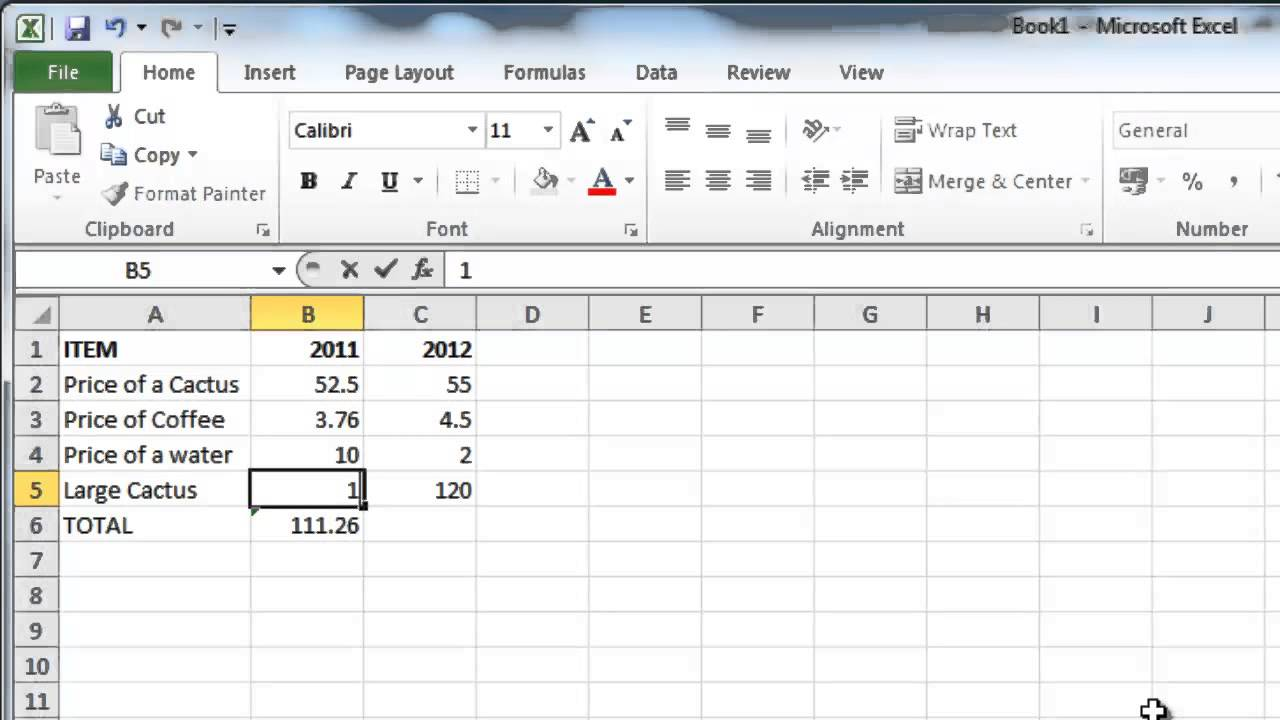 How to Make Excel 2010 formulas calculate automatically - YouTube