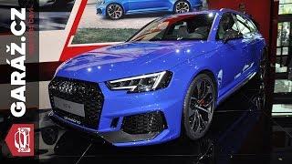 Audi R8 V10 RWS, RS4, TT RS Performance a AICON, ELAINE - Frankfurt 2017 živě
