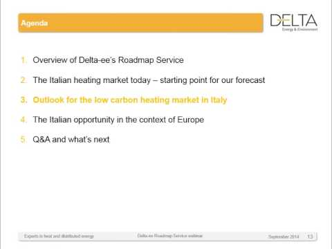 The future of the Italian heating market - an opportunity for low carbon technologies?
