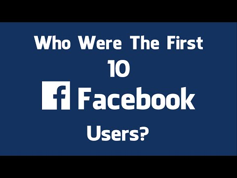 The First 10 Users on Facebook - The First Ten