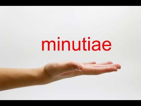 How to Pronounce minutiae - American English