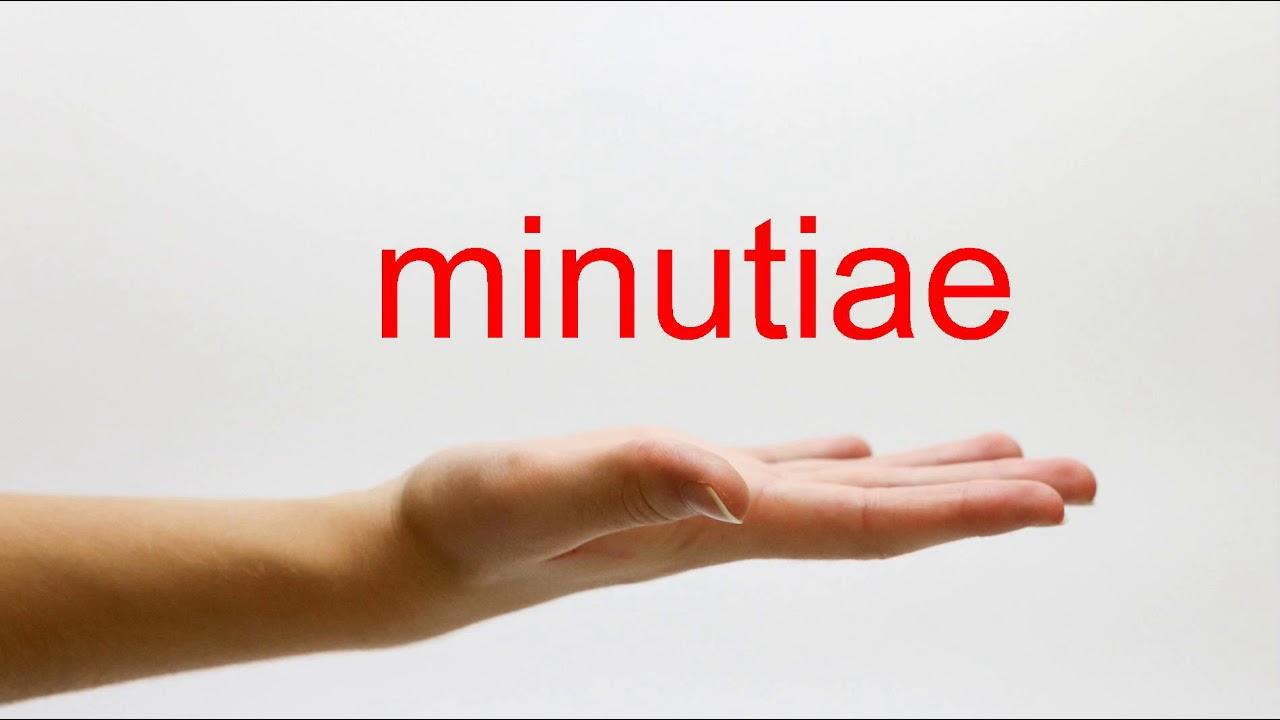 How to Pronounce minutiae - American English - YouTube