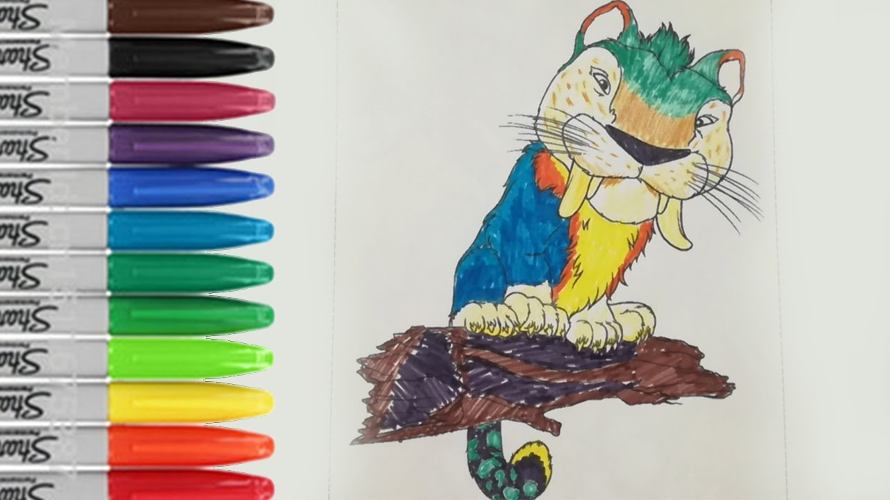 Chunky coloring book page the croods 2 animal sailany coloring chunky coloring book page the croods 2 animal sailany coloring kids voltagebd Choice Image