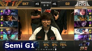 SK Telecom T1 vs G2 eSports - Game 1 | Semi Final LoL MSI 2019 | SKT vs G2 G1