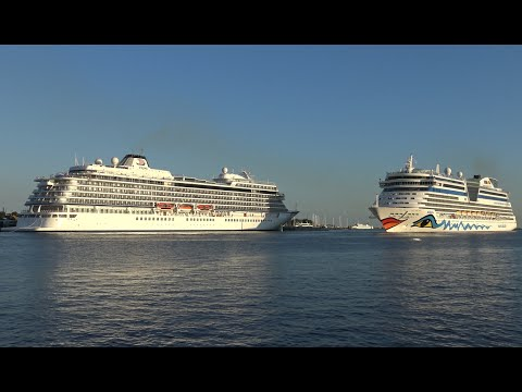 4K Video   Spectacular Cruise Ship Parade at Port Rostock Warnemuende in ULTRA HD