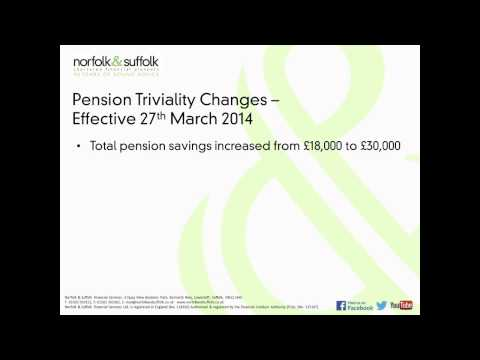 Budget March 2014 - Pension Triviality Update