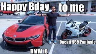 Happy Birthday to me! |BMW i8| Ducati 959 Panigale Riding|Leg workout|