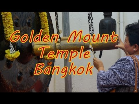 Visiting Wat Saket (The Golden Mount Temple) on a Buddhist holiday in Bangkok Thailand