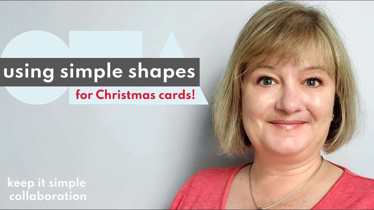 How to use SIMPLE SHAPES to make festive CHRISTMAS CARDS
