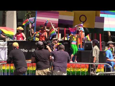 Huckleberry Youth - Berkeley Labs - Pride Parade - Part 39 -  Market St - SF 6 24 2018