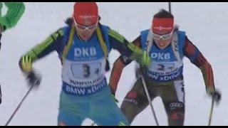 Биатлон 17.01.2016 Финиш - Женская эстафета 4x6 км.