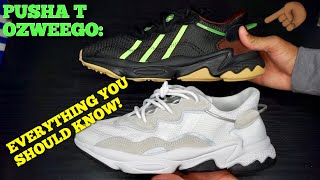 Adidas Pusha T Ozweego Vs. Cloud White Comparison