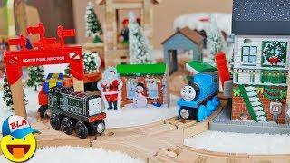 Рождество и Новый Год на острове СОДОР - Паровозики ТОМАС И ДРУЗЬЯ везут Подарки Thomas and friends