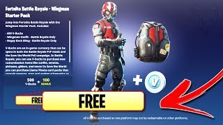 "How To DOWNLOAD ""WINGMAN STARTER PACK"" for FREE! How to Get NEW FREE WINGMAN Skin (Fortnite Wingman)"