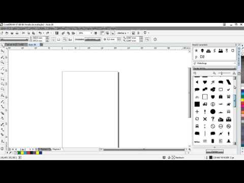 Aula 26 - Curso de CorelDRAW x7 - Símbolos de caracteres
