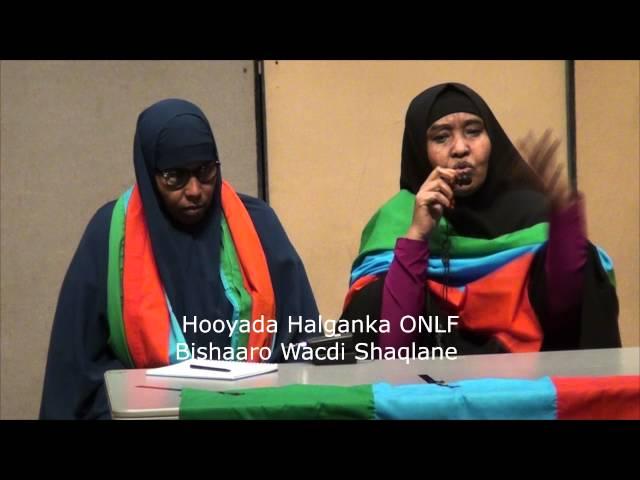 Hooyada Halganka ONLF Bishaaro Wacdi Shaqlane oo Jaaliyada