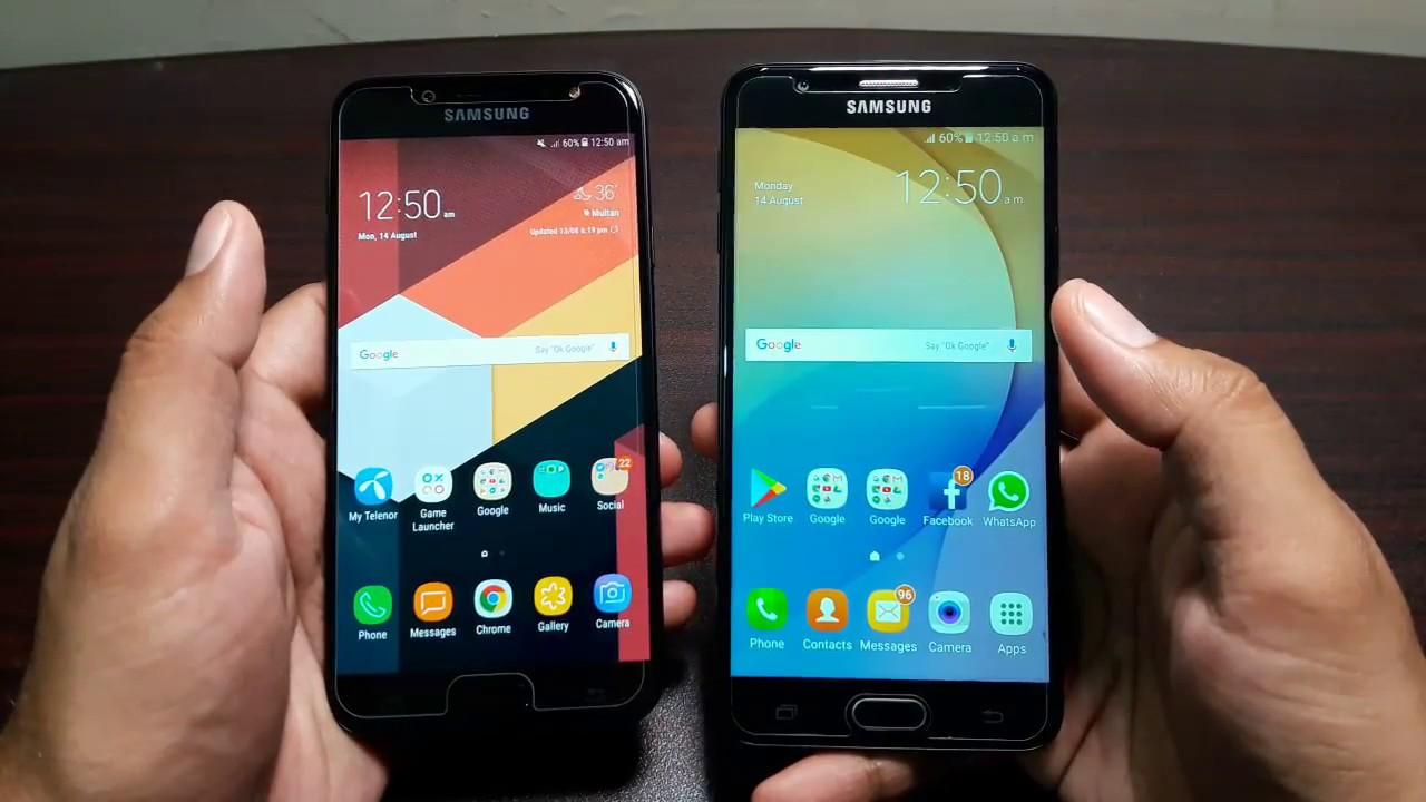 60ddb0d5c4d376 Samsung Galaxy J7 Pro vs J7 Prime! A comparison!!! - YouTube