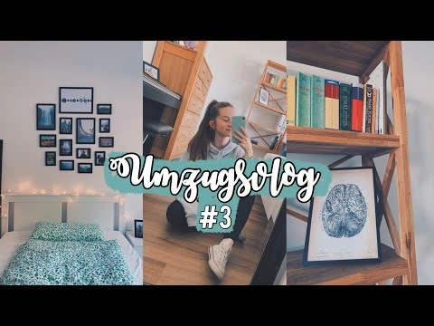 Zimmer dekorieren, Makeup ausmisten & Room Tour sneak peek || Umzugsvlog #3 || Med School Vlogs