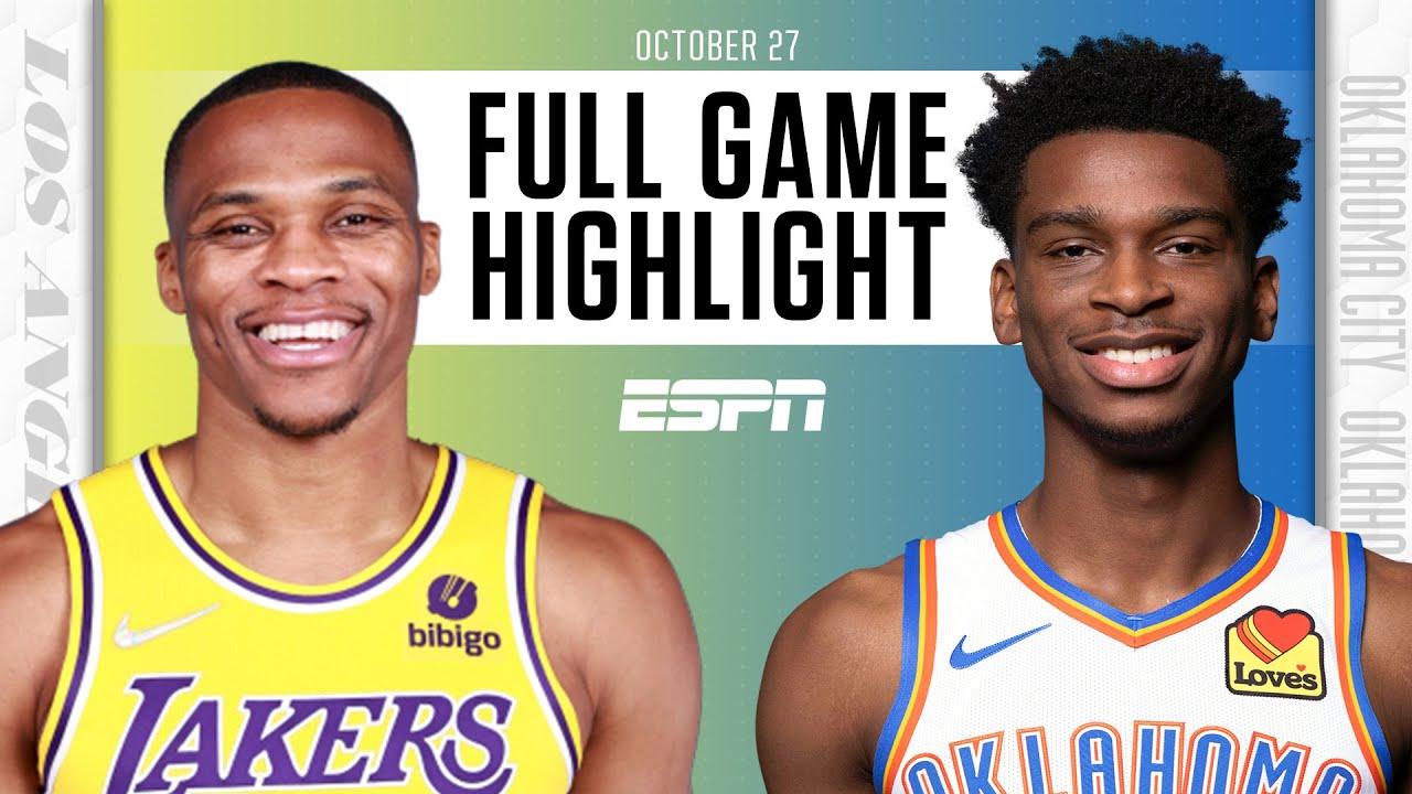 Lakers vs. Thunder - Game Recap - October 27, 2021 - ESPN