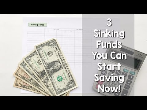 3 SINKING FUNDS YOU CAN START SAVING FOR TODAY!