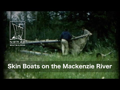 Skin Boats On The Mackenzie River