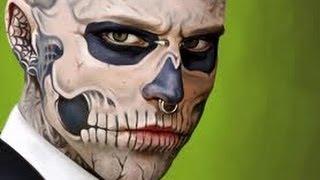 Зомби бой в Красноярске(Человек с черепом вместо лица дал интервью СТС-Прима. Рик Дженест, сегодня известный миллионам, как Зомби..., 2013-10-14T17:57:16.000Z)