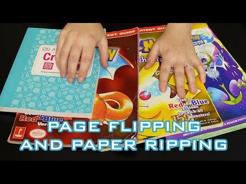 ASMR PAGE FLIPPING, PAPER RIPPING AND WHISPERING