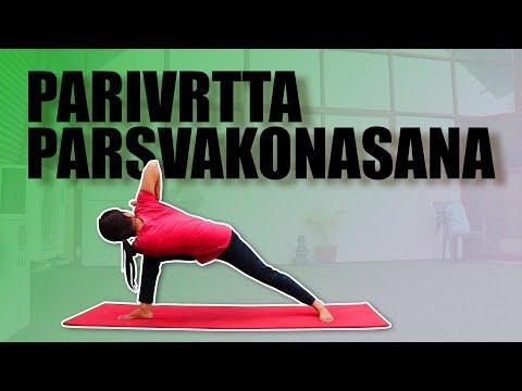 Parivrtta Parsvakonasana | Yoga Posture | Revolved Side Angle Pose