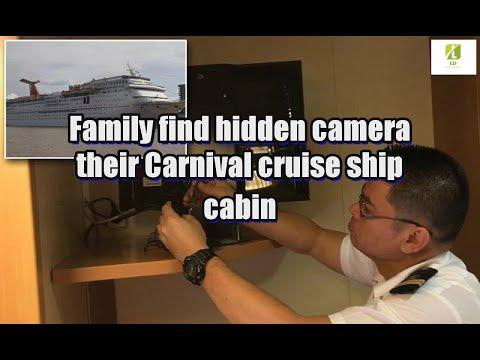 Family find hidden camera their Carnival cruise ship cabin