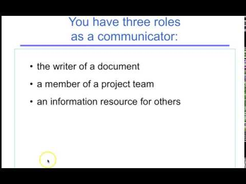 Brief Intro To Technical Communication
