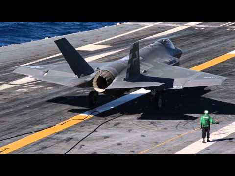 US Navy's $1 Trillion F-35 Jet - Historic Landing On USS Nimitz