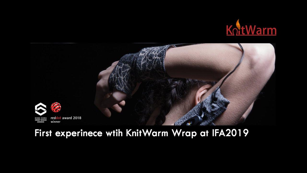 KnitWarm Wrap: 1st experience @ IFA Berlin