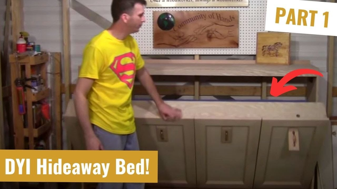 Building a Murphy Bed 1   YouTube
