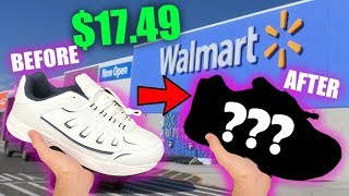 CUSTOMIZING SHOES FROM WALMART CHALLENGE! - Jordan Vincent