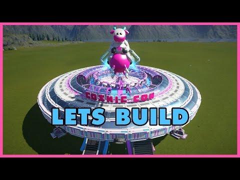 Lets Build - Cosmic Cow Collider Ride Skin! #PlanetCoaster