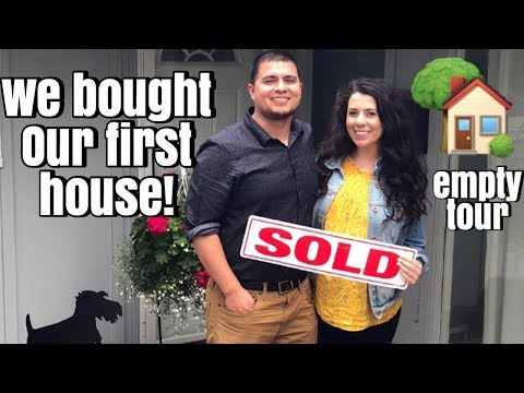 EMPTY HOUSE TOUR of our new home!  a home decor haul lol!