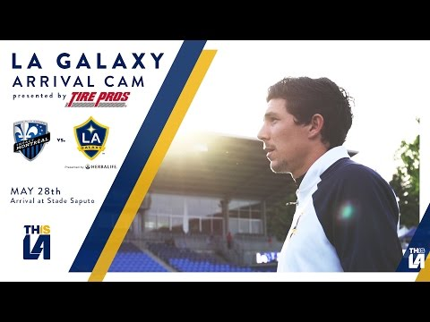 LA Galaxy arrive at Stade Saputo | ARRIVAL CAM presented by TirePros
