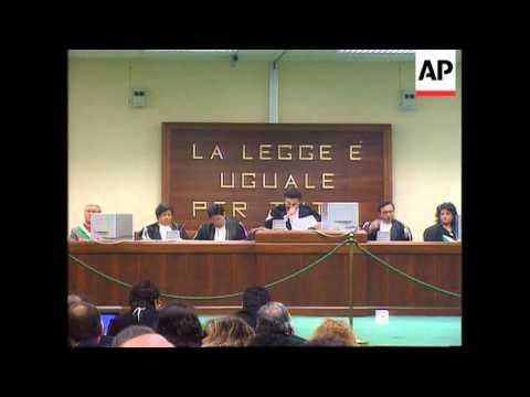 Italy - Mafia Trial Opens