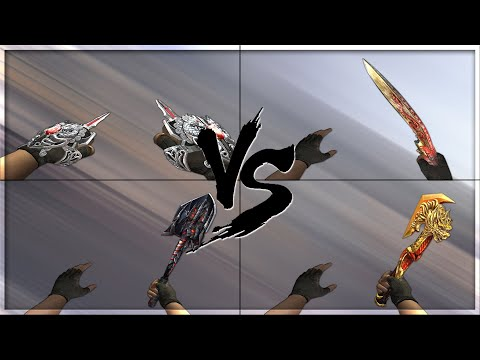 CrossFire 2.0 : BLADED KNUCKLES INFERNAL DRAGON vs Melee VIP's [VVIP Melee Comparison]