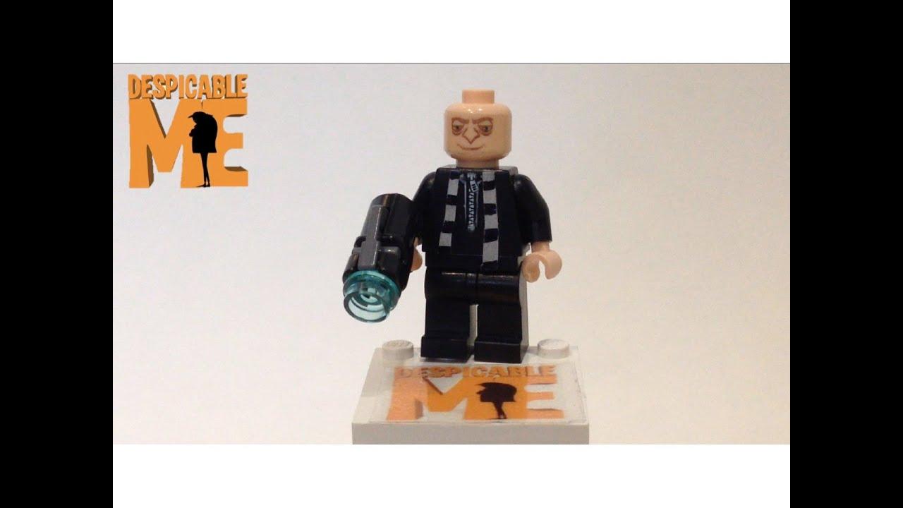 Lego Despicable Me - Custom Gru Minifigure Review - YouTube