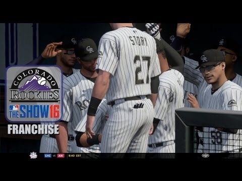 MLB The Show 16 (PS4) - Colorado Rockies Franchise EP2 (Home Opener with Trevor Story!)